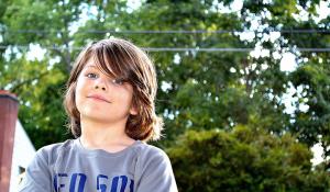 smiling 8 year old boy